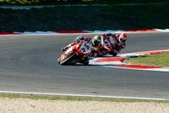 ROMA, ITALIA - 30 SETTEMBRE 2007 Campionato del Superbike, Vallelu immagine stock