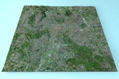 Roma, Italia, vista satellite della mappa Immagine Stock Libera da Diritti