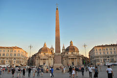 Piazza del Popolo à Rome Photos stock