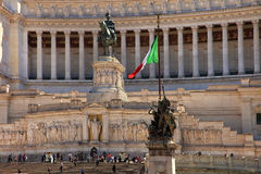 ROMA ITALIEN, APRIL 11, 2016: Piazza Venezia och Monumento Nazio Royaltyfria Bilder