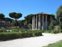 19 06 2017 Roma, Italien: Rund tempel av den Hercules Victor formen Royaltyfri Foto