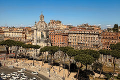 ROMA, ITALY, APRIL 11, 2016 :View from the balcony of the nation Royalty Free Stock Photo