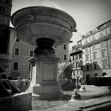 Roma Italy. Black & White walk royalty free stock images