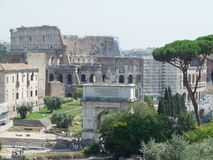 Roma Italy City. Colosseo view royalty free stock photo