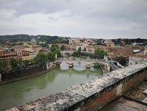 Roma Italy forntida härlig stad för lopp Arkivfoton