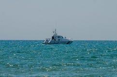 ROMA, ITALY - JULY 2017: Coast Guard in the Tyrrhenian Sea Stock Photos