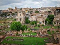 Roma Italy monuments. Antic stock photo