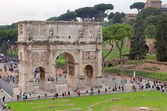 Arch of Constantine, Rome. ROMA, ITALY - 01 OCTOBER 2017: Arch of Constantine, Rome Royalty Free Stock Photos