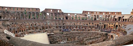 Colosseum, Coliseum or Coloseo, Flavian Amphitheatre largest ever built symbol of ancient Roma city in Roman Empire. ROMA, ITALY - 01 OCTOBER 2017: Colosseum Stock Photography