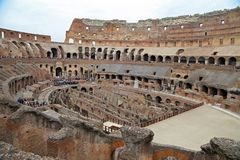 Colosseum, Coliseum or Coloseo, Flavian Amphitheatre largest ever built symbol of ancient Roma city in Roman Empire. ROMA, ITALY - 01 OCTOBER 2017: Colosseum Royalty Free Stock Images