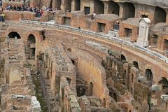 Colosseum, Coliseum or Coloseo, Flavian Amphitheatre largest ever built symbol of ancient Roma city in Roman Empire. ROMA, ITALY - 01 OCTOBER 2017: Colosseum Royalty Free Stock Photos