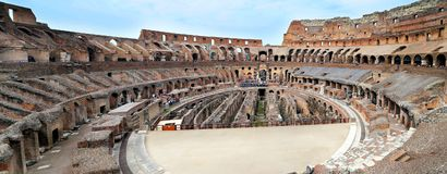 Colosseum, Coliseum or Coloseo, Flavian Amphitheatre largest ever built symbol of ancient Roma city in Roman Empire. ROMA, ITALY - 01 OCTOBER 2017: Colosseum Royalty Free Stock Image