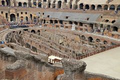 Colosseum, Coliseum or Coloseo, Flavian Amphitheatre largest ever built symbol of ancient Roma city in Roman Empire. ROMA, ITALY - 01 OCTOBER 2017: Colosseum Royalty Free Stock Photo