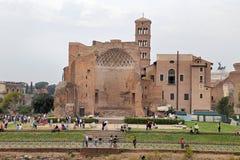 the Domus Aurea, built by Emperor Nero in Rome, in the Roman Forum Stock Image