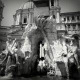 Roma Italy piazza Navona. Black white stock photos