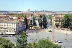 Roma, Itlay dalla villa Borghese Fotografia Stock