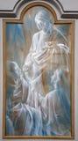Roma - Jesus e eucharist - pintura moderna. Imagens de Stock Royalty Free