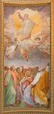 Roma - l'affresco dell'ascensione del signore nel soffitto dei Di Santa Maria ai Monti di Chiesa della chiesa immagine stock libera da diritti