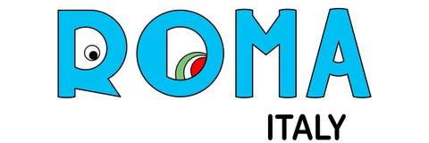 Roma - l'Italie, inscription abstraite dans le bleu illustration libre de droits