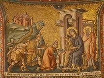 Roma - la adoración de unos de los reyes magos. Fotos de archivo