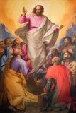 Roma - la ascensión de la pintura del señor en la iglesia Chiesa Nuova de Gerolamo Muziano (1532 - 1592) imagenes de archivo