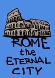 Roma la ciudad eterna ilustración del vector