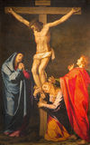 Roma - la crocifissione della pittura di signore nella chiesa Chiesa Nuova da Scipione Pulzone (1550 - 1598) Immagine Stock Libera da Diritti