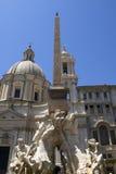 Roma: la fuente en la plaza Navona imagen de archivo