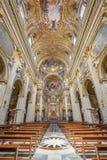 Roma - la navata della chiesa barrocco Chiesa Nuova (Santa Maria in Vallicella) Immagine Stock