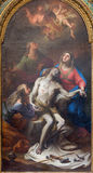 Roma - la pintura del Pieta en el degli Spanoli de Santissima Trinita del della de Chiesa de la iglesia por Casali Imagen de archivo