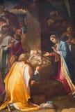 Roma - la pittura di tre Re Magi in chiesa Chiesa Nuova (Santa Maria in Vallicella) da Cesare Nebbia (1534 - 1614) Immagini Stock Libere da Diritti