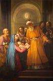 Roma - la presentazione nella pittura di Temeple in chiesa Chiesa Nuova (Santa Maria in Vallicella) Fotografia Stock Libera da Diritti