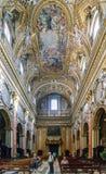 Roma, Lazio, Itália 25 de julho de 2017: Nave principal do chu católico Foto de Stock Royalty Free
