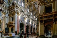 Roma, Lazio, Itália 25 de julho de 2017: Nave principal do chu católico Imagem de Stock