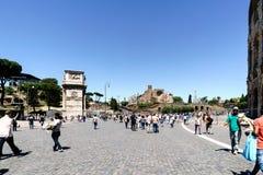 Roma, Lazio, Itália 25 de julho de 2017: Vista lateral do Constantim imagens de stock