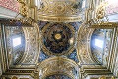 Roma, Lazio, Italia 25 luglio 2017: Cupola della chiesa cattolica c Immagine Stock Libera da Diritti