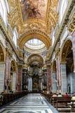 Roma, Lazio, Italia 22 maggio 2017: Navata principale ed altare principale di Th Fotografia Stock Libera da Diritti