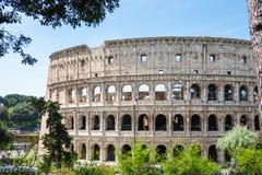 ROMA, It?lia: Grande Roman Colosseum Coliseum, Colosseo igualmente conhecido como Flavian Amphitheatre Marco famoso do mundo Urba foto de stock royalty free