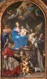 Roma - Madonna messi sul trono con gli ss Charles Borromeo e Ignatius da Carlo Maratta 1680 in chiesa Chiesa Nuova Immagini Stock Libere da Diritti