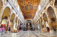 ROMA, 21 MARZO AL: Interno della chiesa Santa Maria Aracoeli. Marzo Immagini Stock