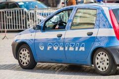 Roma - 21 marzo 2014: Volante della polizia il 21 marzo dentro Immagini Stock Libere da Diritti
