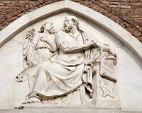 Roma - Matthew santo il rilievo dell'evangelista Fotografia Stock Libera da Diritti