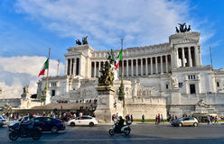 Roma monument en Vittorio Emanuele Royaltyfria Foton