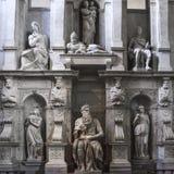 Roma, Mosè da Michelangelo sulla tomba di papa Giulio II in Sai fotografia stock