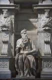 Roma, Mosè da Michelangelo sulla tomba di papa Giulio II in Sai fotografie stock
