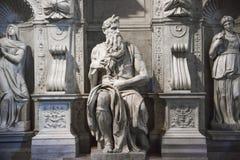 Roma, Mosè da Michelangelo sulla tomba di papa Giulio II in Sai immagini stock libere da diritti