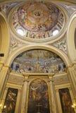 Roma - mosaico de Jesús el profesor y la capilla imagenes de archivo