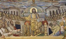 Roma - mosaico de Jesus o professor Fotografia de Stock