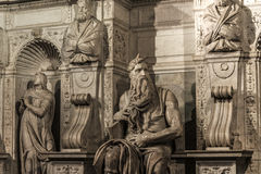 Roma , Moses by Michelangelo Royalty Free Stock Image