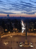 Roma na noite imagem de stock royalty free